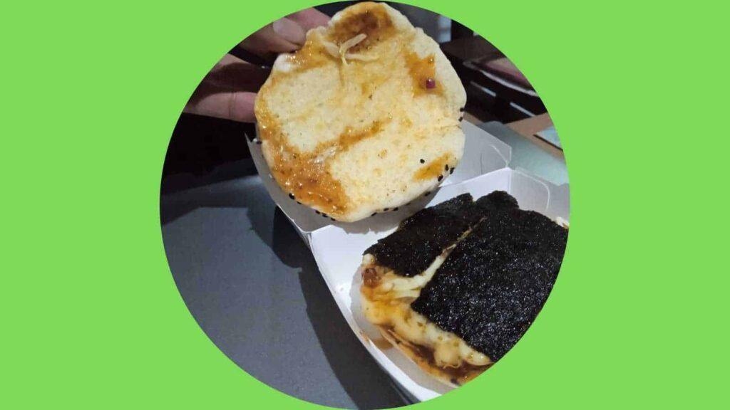 lembar nori di burger fish fillet